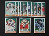 Miami Dolphins 1990 Fleer Football Team Set **Premier Issue** (Dan Marino) (Mark Clayton) (Mark Duper) (Ferrell Edmunds) (Hugh Green) (EJ Junior) (Marc Logan) (John Offerdahl) (Reggie Roby) and more