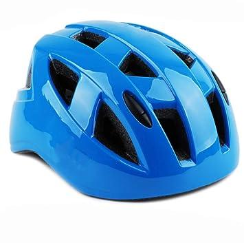 XIAHE El Casco Patinaje de los niños Azules Reales Integra el Casco de la Bicicleta del