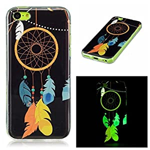 iPhone 5C Case,Colorful Soft Silicone Cover Glow in the Dark Luminous Noctilucent Ultra Slim TPU Skin Back Case for Apple iPhone 5C
