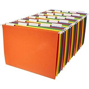 AmazonBasics Hanging Organizer File Folders – Letter Size, Assorted Colors, 25-Pack