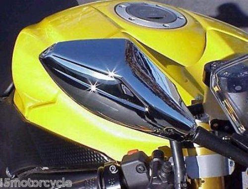 i5 New Chrome Mirrors to fit Honda Kawasaki Suzuki Yamaha