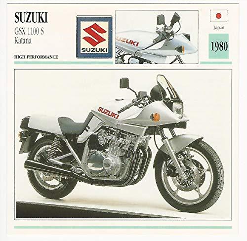 1992 Edito Service, Atlas, Motorcycle Cards, 01.13 Suzuki GSX 1100 - 1100 Suzuki Katana