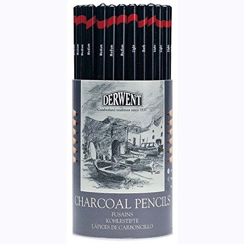 Charcoal Pencil (Set of 72) by Derwent