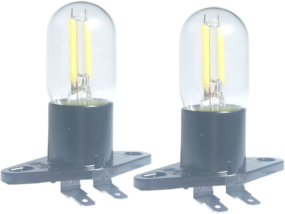 Bombilla LED de filamento de 1.5 W Z187 para microondas, 240 V, 20 W, equivalente a lámparas incandescentes para frigorífico Galanz, microondas, horno, gama eléctrica, indicador de campana, 2 PACK,
