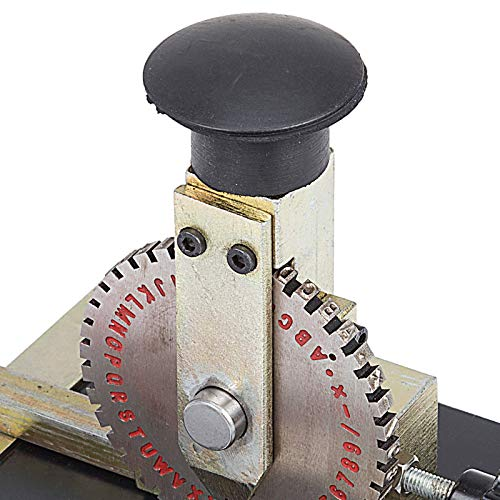 VEVOR Sheet Embosser Manual Deboss Metal Embosser Machine Dog Tag Specific Model Date Serial Number Stamping Embossing Marking Machine with 4MM Print Wheel by VEVOR (Image #6)