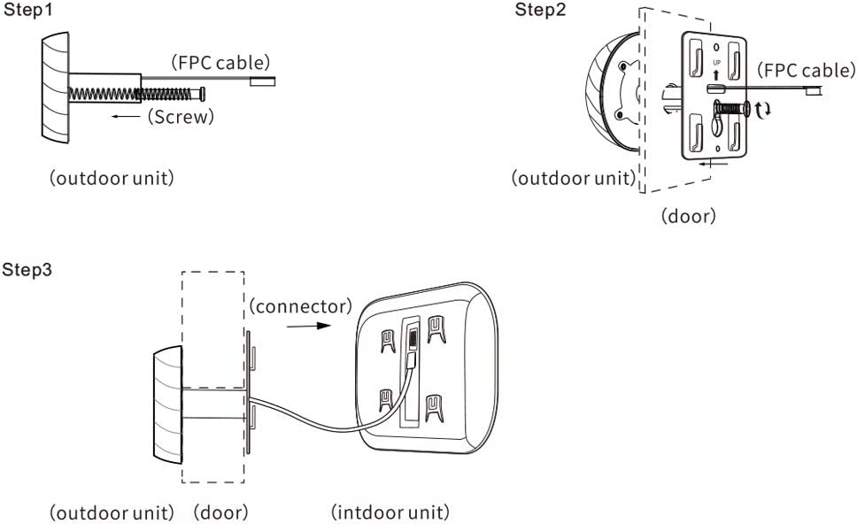 Decdeal Digital Door Viewer Camera Elektronischer T/ürspion mit Nachtsicht Aufzeichnung f/ür Familien