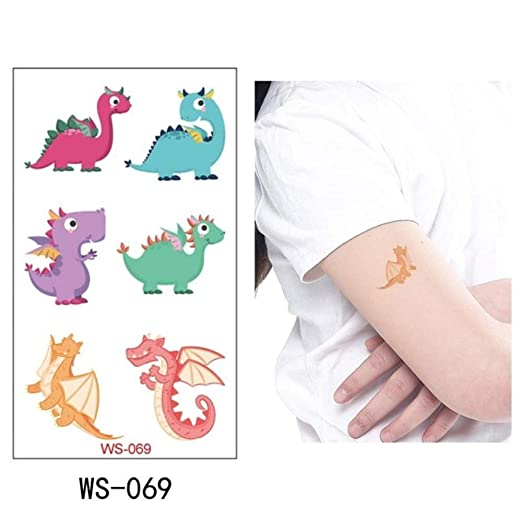 adgkitb Etiqueta engomada Temporal del Tatuaje del Dinosaurio 5pcs ...