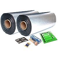 100 sqft GTmat Pro 50mil Rolls (18 x 33.3) Automotive Audio Sound Deadener Deadening Noise Dampener with Genuine Dynamat Roller