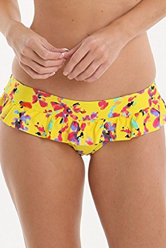 Lepel Sunset Yellow Floral Frill Low Rise Bikini Pant 157570 16 UK