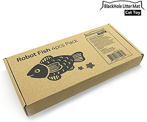 BlackHole Litter Mat Interactive Swimming Robot Fish Toy for Cat with LED Light (4 pcs), Electronic Cat Toy to Stimulate Your Cat's Hunter Instincts 6