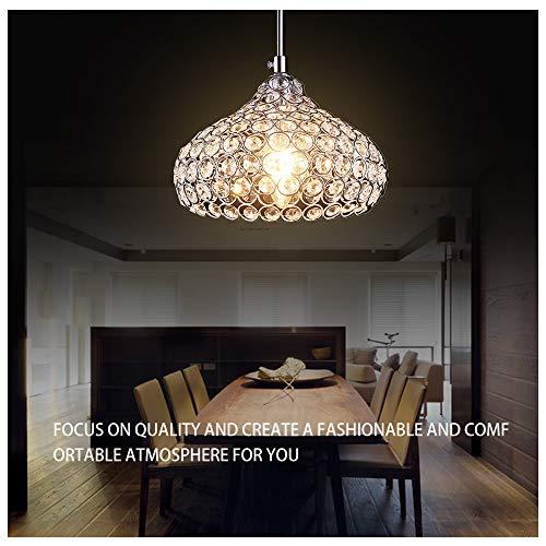 Crystal Ceiling Light,Fy-Light 1-Light Mini Modern Crystal Chandeliers Pendant Lights Ceiling Lamp Cup Shape Design for Dining Room, Bedroom,Living Room, Restaurant,Bar