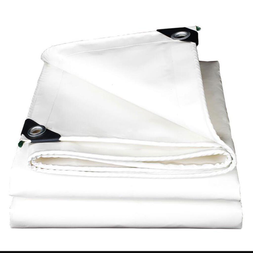 XWN Tarpaulin Regenfeste Zelt LKW-Plane PVC doppelt hochfesten Schatten Verschleiß weiß 0,46 mm, 520 g   m2 (größe   3  3m)