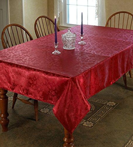 Violet Linen European Floral Design Oblong/Rectangle Tablecloth, 60
