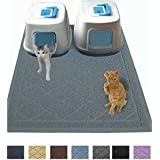"JUMBO Litter Mat 47"" x 36"" Cat Litter Mat, Traps Messes, Easy Clean, Durable, Non Toxic Trapper Rug - Litter Box Mat, Cat Mat, Kitty Litter Mat"
