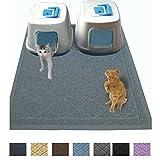 Jumbo Litter Mat 47″ x 36″ Cat Litter Mat, Traps Messes, Easy Clean, Durable, Non Toxic Trapper Rug – Litter Box Mat, Cat Mat, Kitty Litter Mat