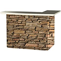 Best of Times Portable Patio Bar Table, Rock Wall