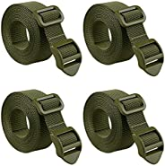 """MAGARROW 80"""" Packing Straps with Ladder Lock Adjustable Buckle Webbing (Army Green (4-Pack),"""