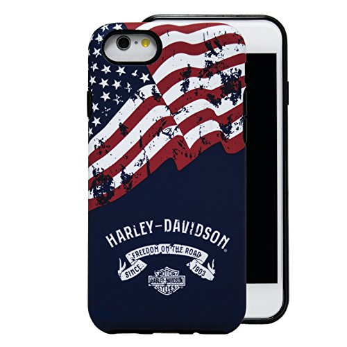 Harley Davidson Telephone - Harley Davidson Freedom on the Road Flag Cover fits iPhone 8, Phone 7 and iPhone 6. DOES NOT FIT PLUS SIZE iPHONE