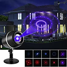 YKS Laser Landscape Projector Light Projector Lights Laser Lights Moving Galaxy Show Spotlights Outdoor Decorations for Party, Holiday, Birthday, Stage Light (Red-Blue)