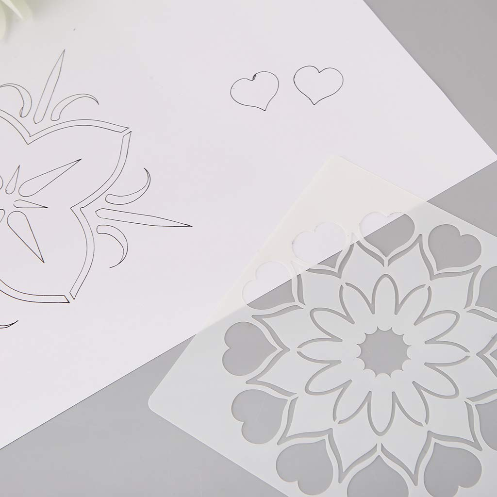 Horoshop - 12 moldes de Dibujo para niños, diseño de Flores, Plantillas de Pintura, Manualidades, Tarjetas, álbumes de Recortes, Juguetes educativos: ...