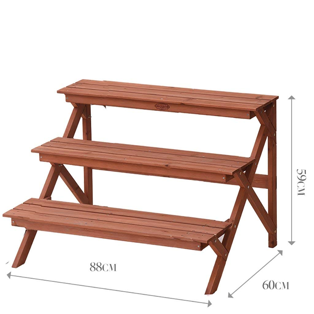 A3 PIN Home Furniture Flower Stand Solid Wood Multi-Layer Landing Flower Stand Balcony Living Room Flower Pot Rack Shelf