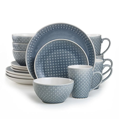 Euro Ceramica Palma Collection 16 Piece Ceramic Reactive Cra