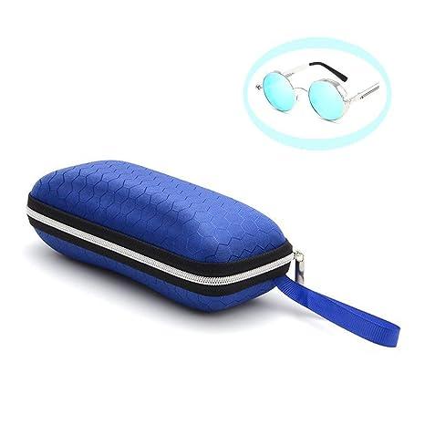 LAMEIDA Estuche para Gafas con Cremallera Resistente Funda de Gafas Rígidas Impermeable para Gafas de Sol con Cremallera Almacenaje Lente Suave ...