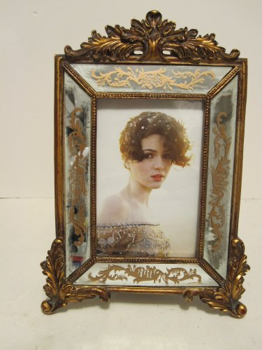 Antique Looking Florentine 4'' X6'' Venetian Mirror Picture Frame by jc