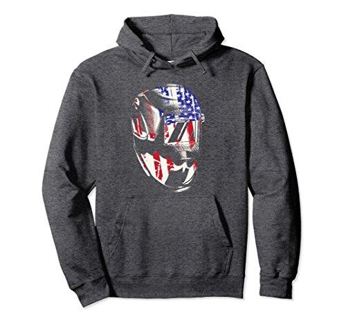 Unisex Welding Gift Hoodie Welder American Flag Welding Sweater Medium Dark (Welder Adult Sweatshirt)