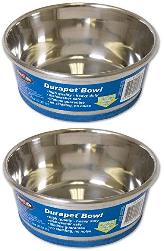 DuraPet 2 Pack of Heavy Duty Dog Bowls, Capacity 3 Quarts Per Bowl