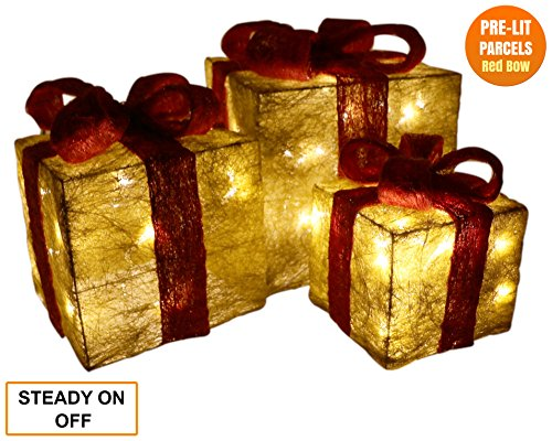 christmas decorations sale light up christmas parcels light up christmas presents christmas ornaments christmas gift set of 3 pre lit glitter parcels with