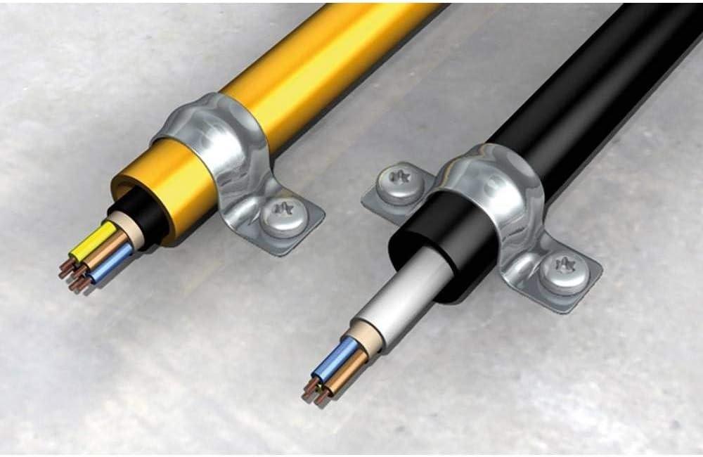 Gris FISCHER 15076 Grapa doble para tuberias de pvc y cobre BSMD-26 // 50C Envase de 50 ud.