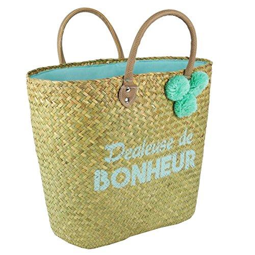 Les vert Lily Trésors De 50x28 Bonheur' de 'Dealeuse plage Sac beige Q1181 de cm rqr641BTH