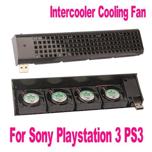 Demiwaking USB ventilateur de refroidissement 40/mm 4/Quad pour PS3/Noir