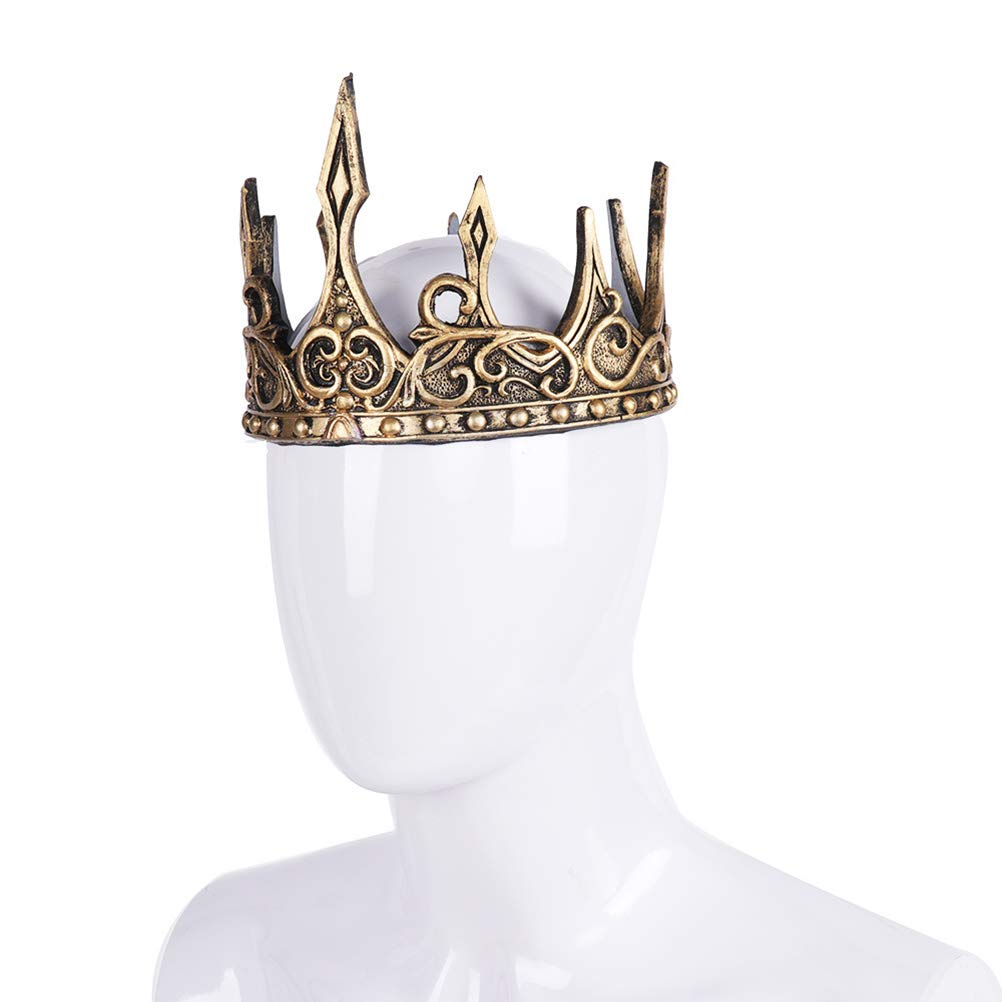 Amosfun Antique Crown Headband King Crowns Cosplay Accessories Halloween Headdress