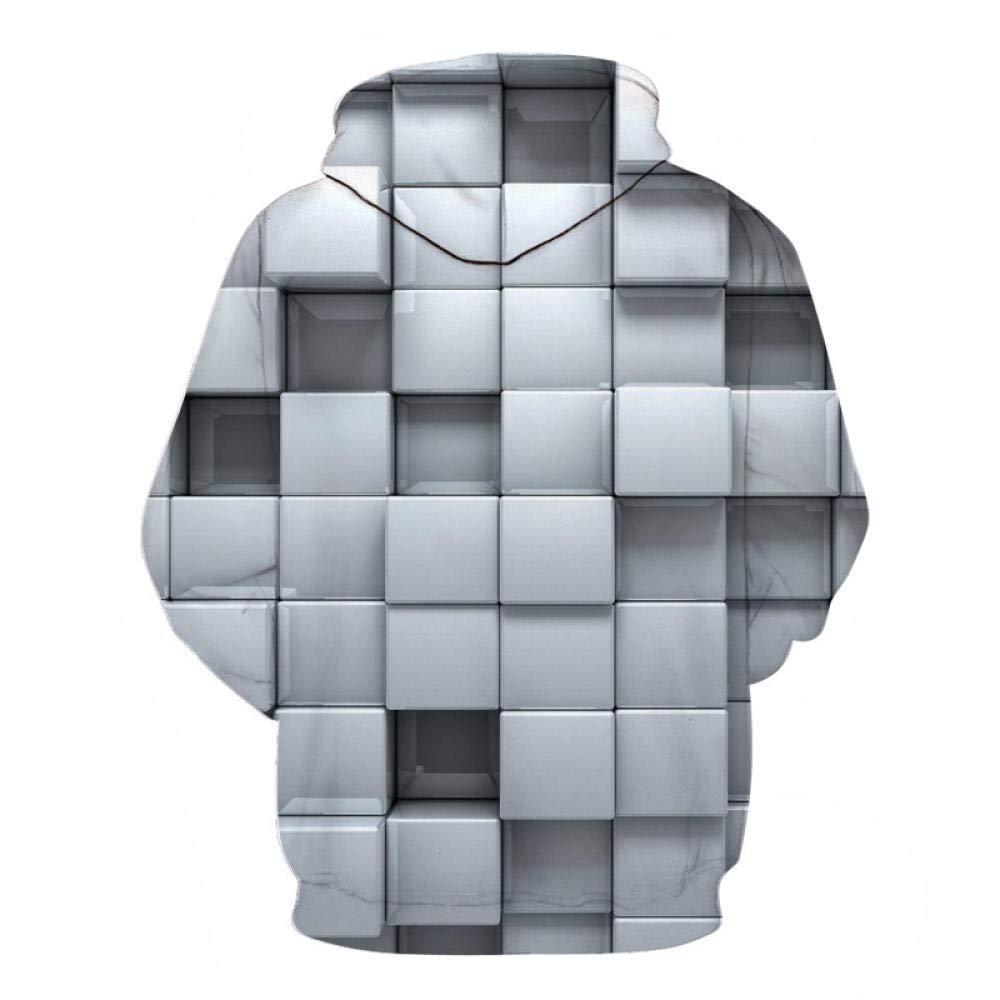 NSBXDWRM 3D Druck Kapuzenpullover,Paar Unisex Neuheit Hooded Kapuzenjacke M/änner Frauen Geometrischen Quadrat Digital Print Langarm Sport Pullover F/ür Erwachsene Sch/üler Sweatshirt Kleidung