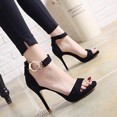 SHOESHAOGE Femmes Nuit Shoes L'Or Pour Fine Slotted Chaussures Sandales Pour Heel EU34 L'High Dew Avec aaxFOr