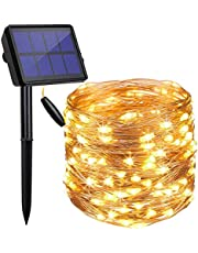 LED Solar String Lights Outdoor 72ft 200 LED Solar Powered String Fairy Tree Light with 8 Lighting Modes,Waterproof,Indoor Lighting for Home,Garden,Decoration etc.