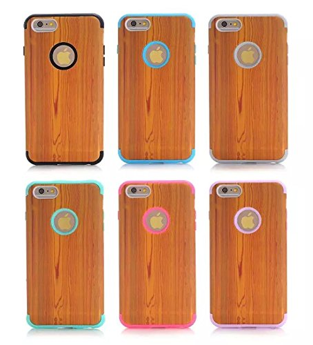 6s Plus-hülle, iPhone 6 Plus-Kasten, Lantier iPhone 6 Plus Holzcase, Natur Series Holz Schlank Covering-Hülle fürs iPhone 6 Plus / 6s zuzüglich 5,5 Zoll Hot Pink