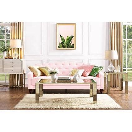 Elegant Vintage Look Tufted Sofa, Sleeper, Living Room Furniture, Diamond  Tufted Seat With