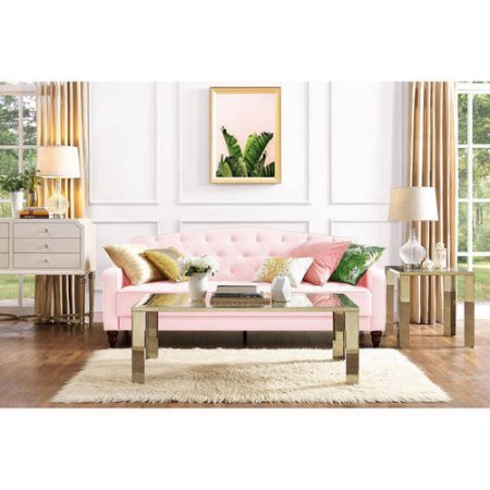 Novogratz Vintage Tufted Sofa Sleeper II (Pink (Reclining Sleeper)