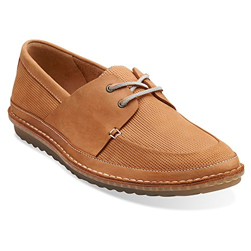 Zapatos Clarks injertado Vela Oxfords Tan