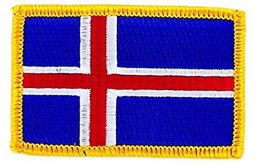 Patch Aufnäher bestickt Flagge Island islandias zum Aufbügeln Abzeichen Backpack