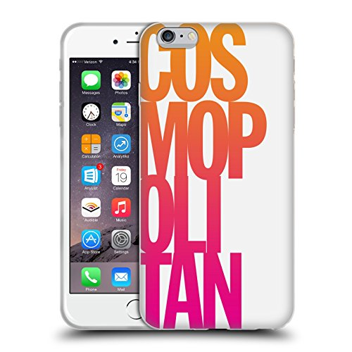 Official Cosmopolitan Stacked Logo Soft Gel Case for Apple iPhone 6 Plus / 6s Plus