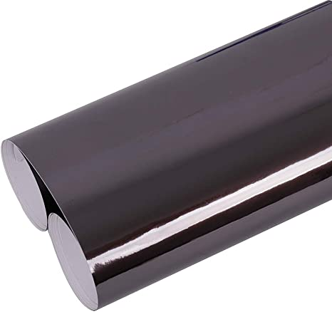 Black Gloss 5ft x 1ft Vinyl Wrap Roll with Air Release Technology