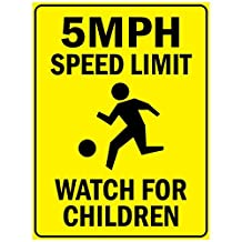 5 Speed Limit Watch For Children Aluminum METAL Sign