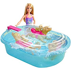 Barbie Swimmin' Pup Pool Set
