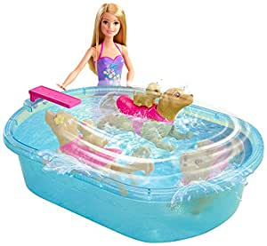 Barbie Swimmin 39 Pup Pool Set Toys Games