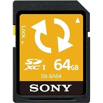 Amazon.com: Sony tarjeta de memoria SDXC 64 GB (con función ...
