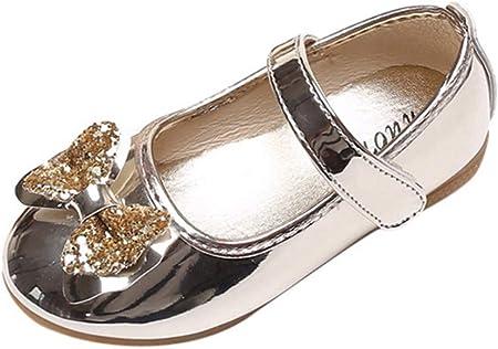 YWLINK Antideslizante NiñAs Arco Lentejuelas Baile Rendimiento Zapatos Princesa Zapatos Zapatos Individuales Zapatillas De Deporte Sandalias Fiesta Bien Parecido